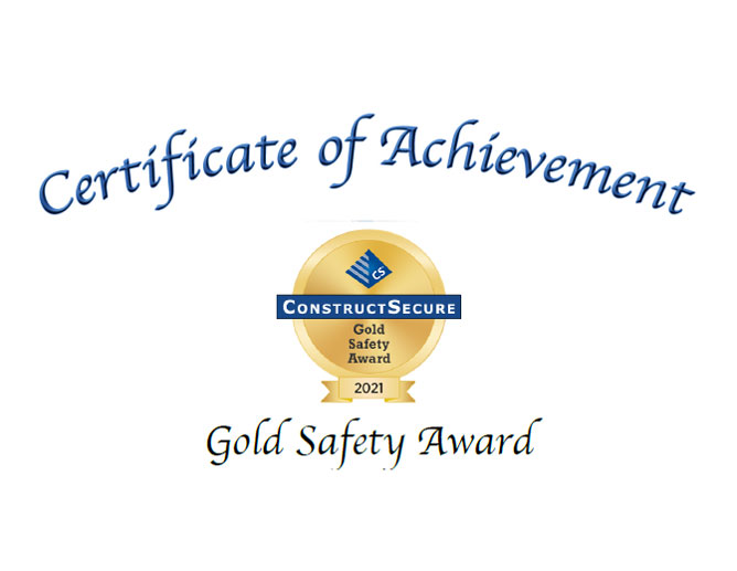 Construct Secure Independent Safety Assessment Program and has achieved the Certificate of Completion